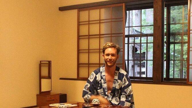 Pablo Rivero, en Japón.