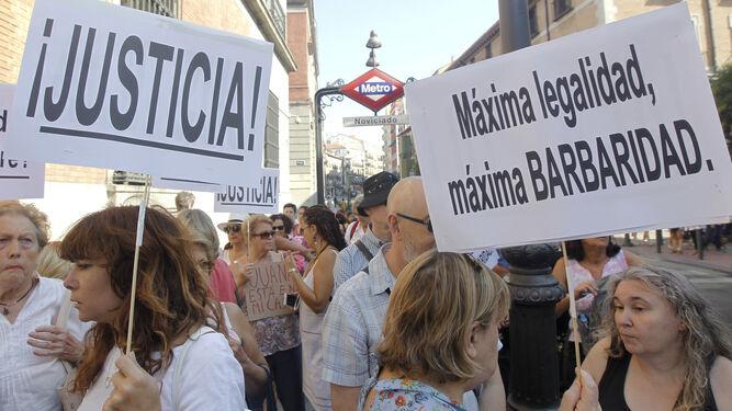 Una de las múltiples manifestaciones de apoyo a Juana Rivas.