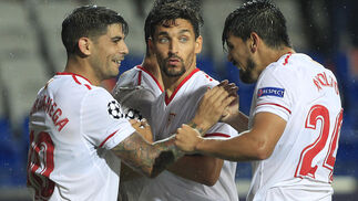 Basaksehir-Sevilla FC, en imágenes