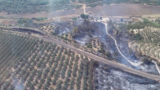 Una imagen de la zona afectada.