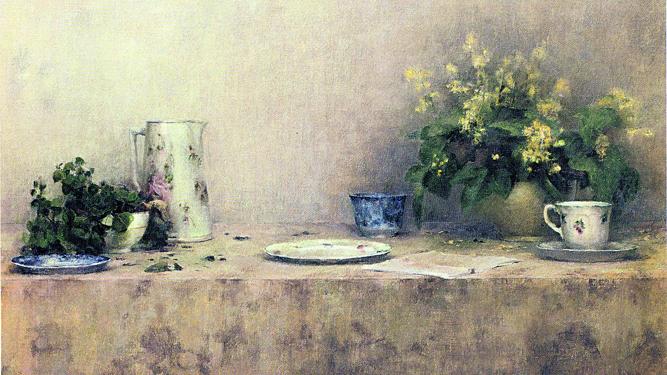 Detalle de 'Bodegón de las mimosas', 1998. Fundación Cajasol.