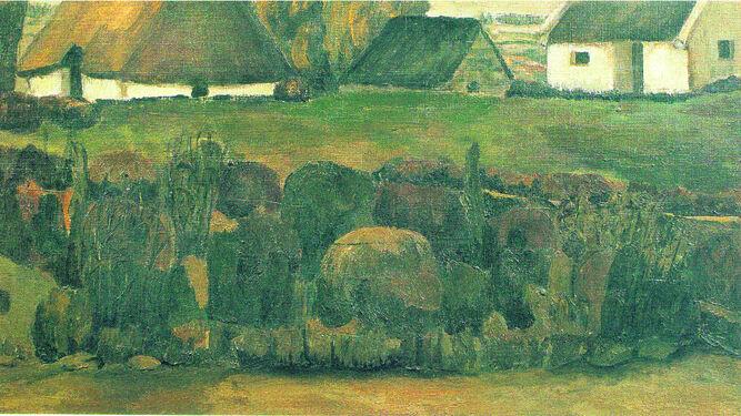Detalle de 'Las chozas de Caneli', 1967. Expuesto también en La Pasarela en 1967. Fundación Cajasol.