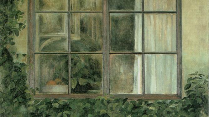 Detalle de 'La ventana de detrás', 1981. Fundación Cajasol.