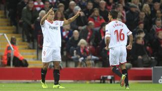 El LIverpool-Sevilla FC, en imágenes