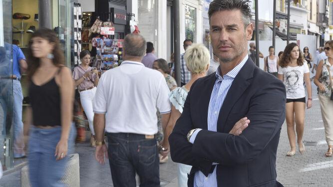 Óscar Moreno Valenzuela, en la calle Tetuán.