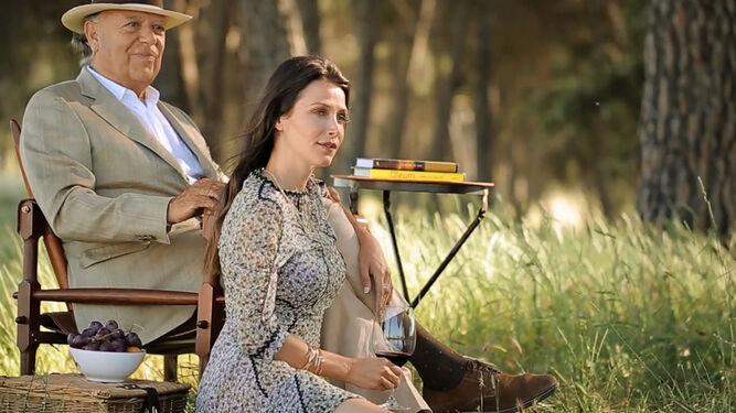 La pareja, en su finca de El Rincón, en un reportaje para una revista.