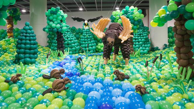 Para el zoológico se han utilizado un total de 473.000 globos.