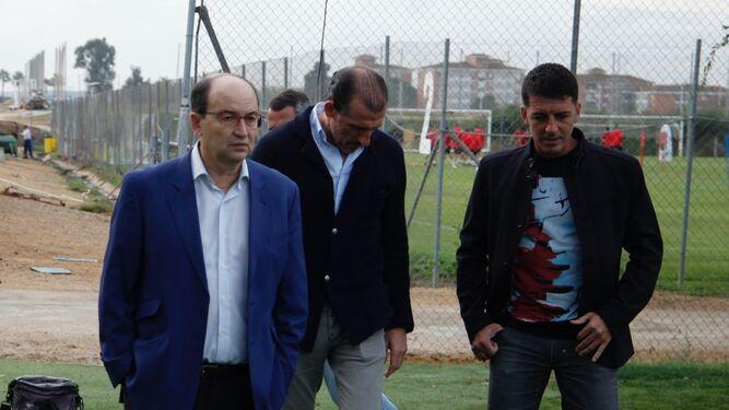 José Castro, Óscar Arias y Javi Guerrero