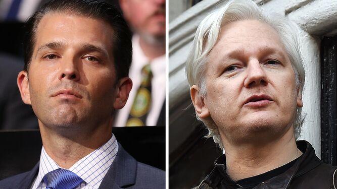 Trump Jr y Assange