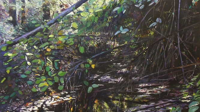 'La piel del bosque', una sutil pieza que estimula tanto la vista como el tacto.