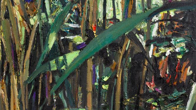 'Ribera 7', un lienzo en el que el color irrumpe con fuerza y el pigmento se manifiesta con potencia.