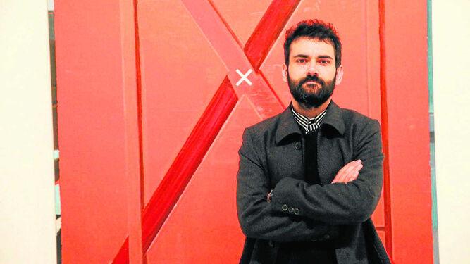 Rubén Guerrero durante la presentación de la muestra en el museo malagueño.