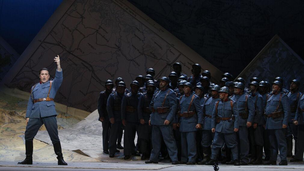 El ensayo general de la ópera 'La hija del regimiento'