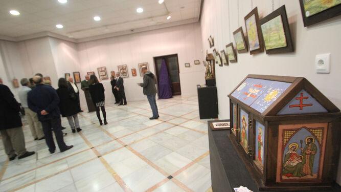 Inauguración de la obra (a la venta solidaria) de G. Chaparro en el Mercantil.