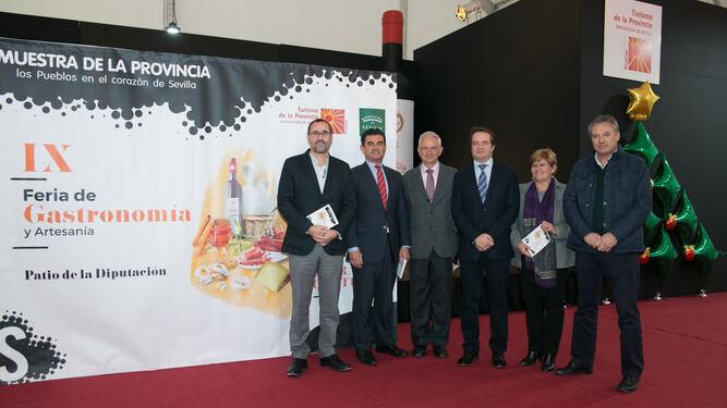 El vicepresidente de Prodetur, Antonio Conde, ayer en la inauguración de la Feria de Gastronomía y Artesanía.