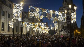 La inauguración del alumbrado de Navidad de Sevilla