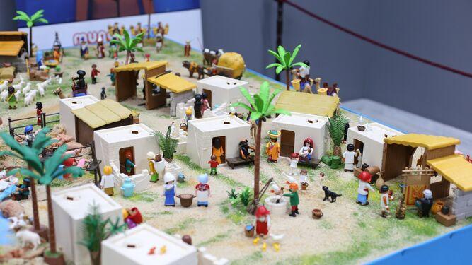 Escena de Melchor en el belén de Playmobil, de La Caixa.