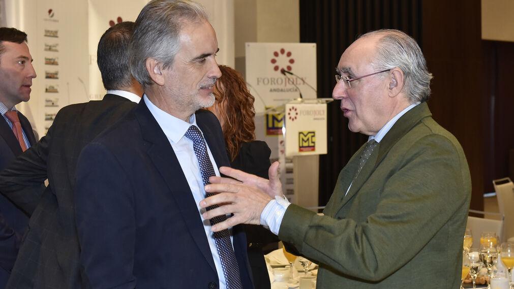 Aquilino Alonso, director de la Agencia Andaluza de la Energía, y Javier Torres Vela, ex presidente del Parlamento andaluz.