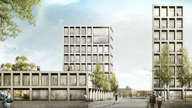 Una de las imágenes del proyecto desarrollado para la ciudad finlandesa de Oulu ganador del primer premio.
