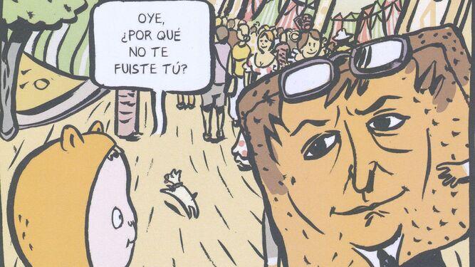 Lectura singular. En la obra de Muñoz Gijón e Hidalgo, Sevilla tiene un ombligo en la Plaza de España, Silvio es una torrija y Cernuda un arcoíris.