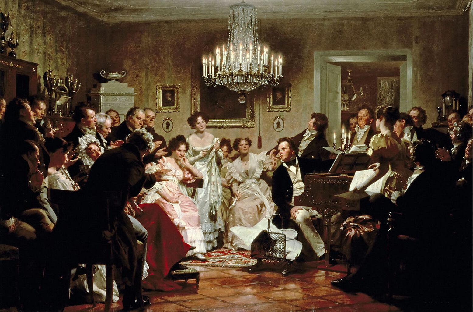 Господарі і гості музичних салонів ХІХ століття