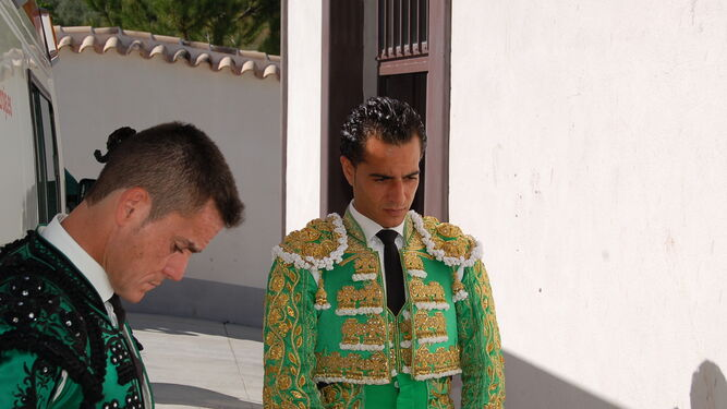 Iván Fandiño, concentrado antes de hacer el paseíllo.