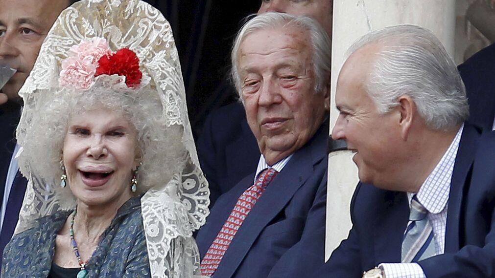 Olivencia con la Duquesa de Alba en la Maestranza