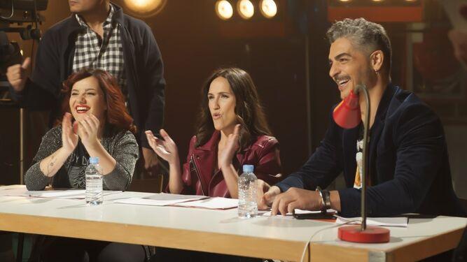 Virgina Díaz y el jurado del casting de 'Cachitos'.