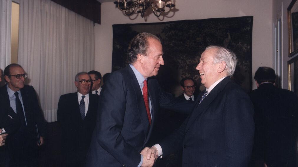 Olivencia con el rey Juan Carlos.