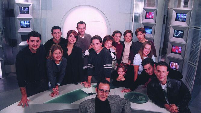 El primer equipo de 'AD', con Rafael Cremades, Toñi Moreno o Beatriz Díaz.