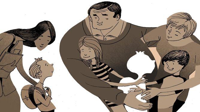 Cerca de 600 niños viven con una familia de acogida