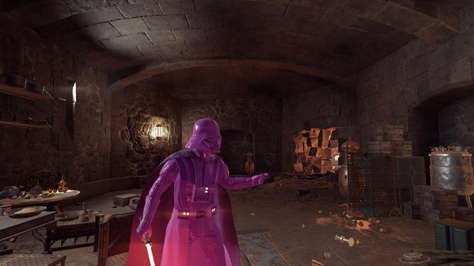 Darth Vader, de rosa.