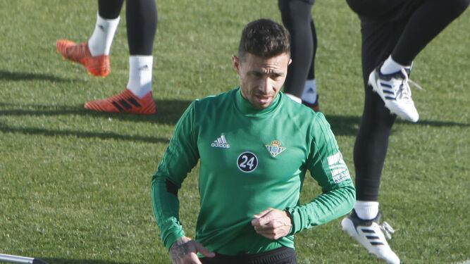 Ruben Castro, en el regreso al trabajo del equipo.