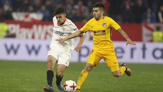 El Sevilla FC-Atlético de Madrid de Copa, en imágenes