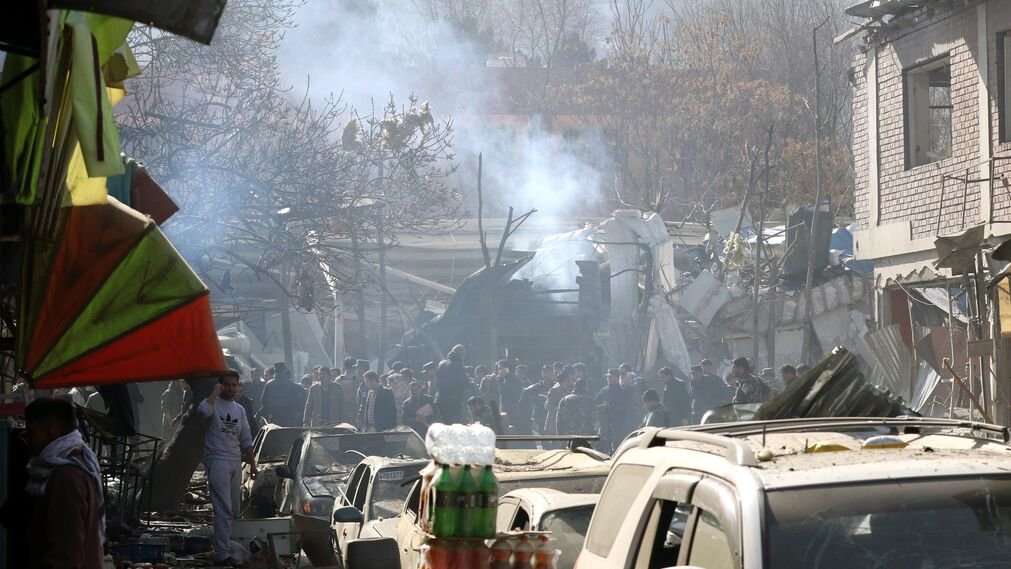 Imágenes del atentado suicida en Kabul
