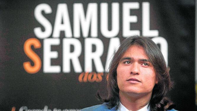 Samuel Serrano, durante la presentación de su primer trabajo discográfico.