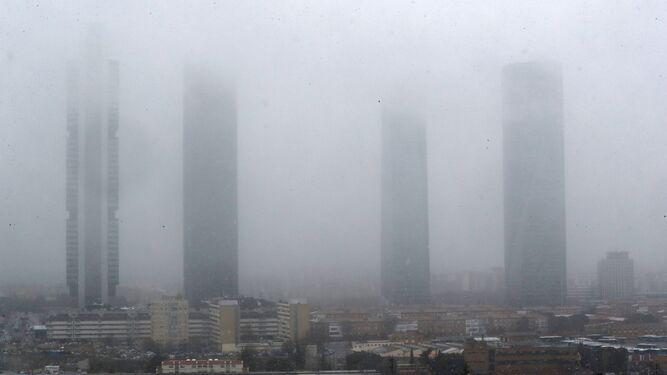 La nieve ha llegado a Madrid