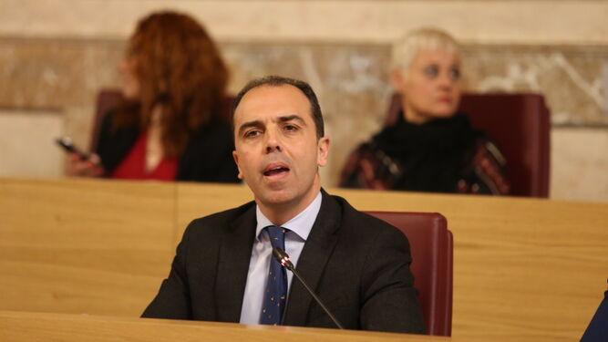 El portavoz de Ciudadanos en el Ayuntamiento, Javier Millán