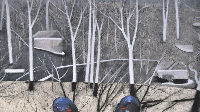 Una mirada propia. Obras como 'Baobab', 'Con los pies por delante' y 'Retratos I' revelan la inteligencia y el humor con que Juan Ángel González de la Calle propone un juego de opuestos, una sutileza que ya anticipa el título de la muestra de Birimbao, 'Ni todo lo contrario'.