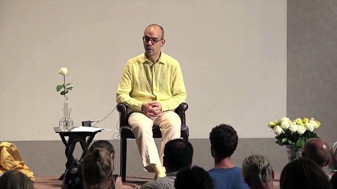Fabrice Midal, autor del libro y profesor de meditación desde hace más de 20 años, en una conferencia.