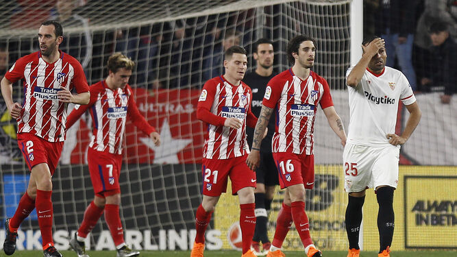 Las imágenes del Sevilla-Atlético de Madrid