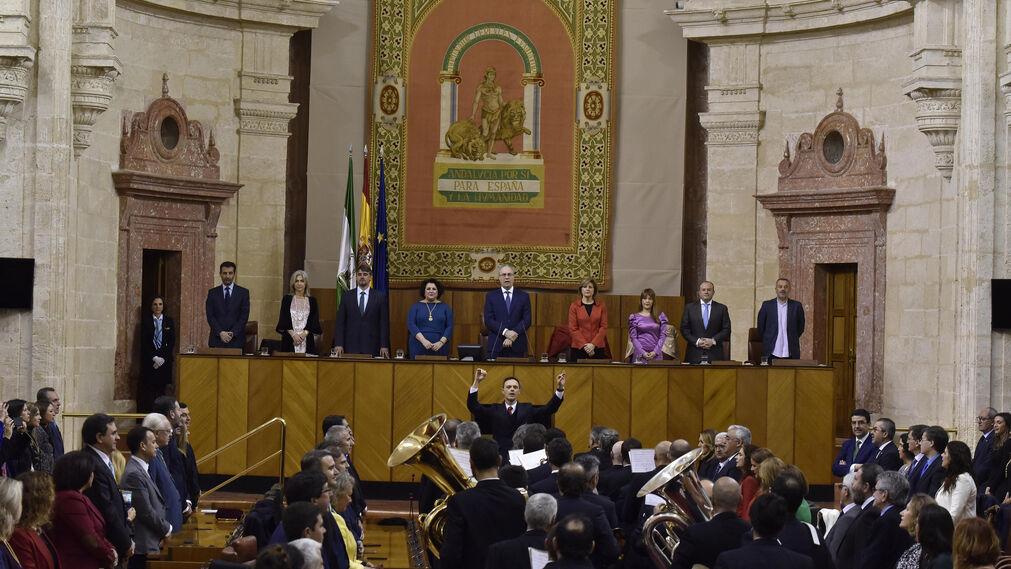 El acto por el Día de Andalucía en el Parlamento