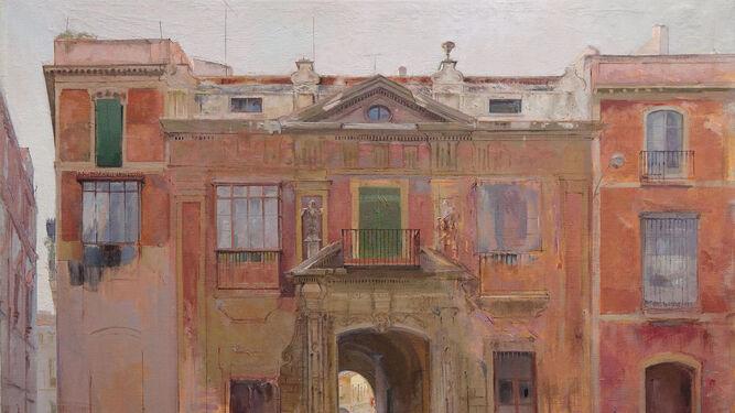 Obra de Joaquín Sáenz titulada 'La Casa de la Moneda, 1984'.