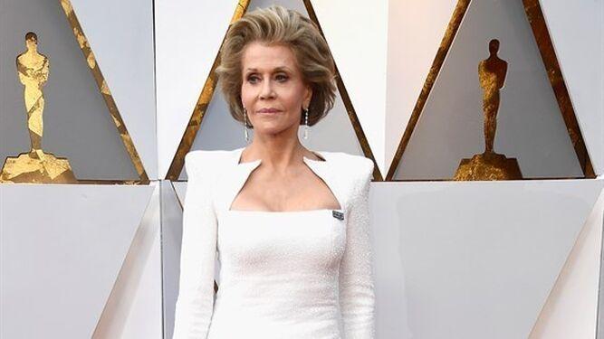Jane Fonda optó por el blanco.