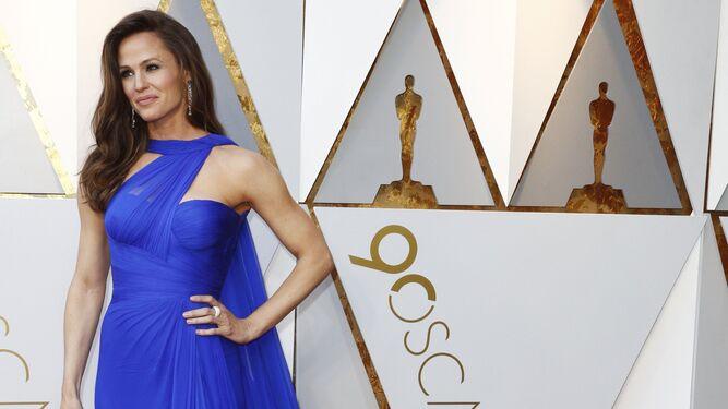 Jennifer Garner, de azul klein.