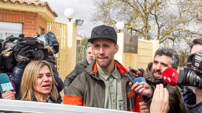 'Viti', a su salida de la prisión en Burgos.