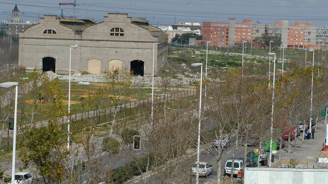 Vista general de los terrenos de las antiguas naves de Renfe.