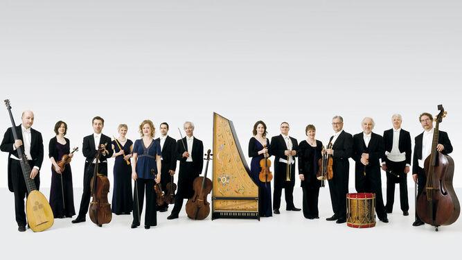 Los músicos del veterano conjunto The English Concert que serán dirigidos en Sevilla por su titular, Harry Bicket.