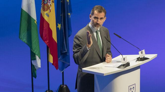 Felipe VI, en un acto en Sevilla en 2016.