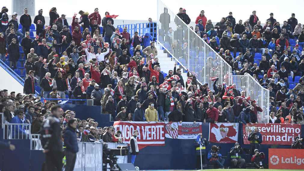 Las imágenes del Leganés-Sevilla